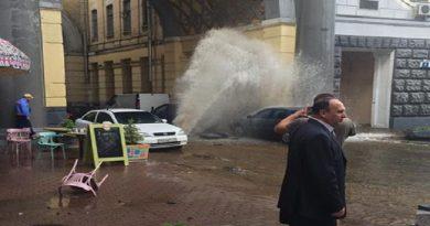 proryv truby v Kieve