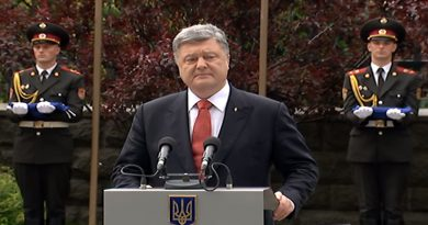 Prezident Ukrainy Petr Poroshenko na Dne Evropy v Ukraine