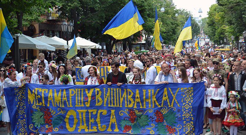 V Odesse proshel mnogotysjachnyj Megamarsh v vyshivankah (1)