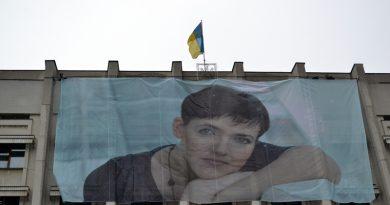 V Odesse vyvesili ogromnyj portret Savchenko 1