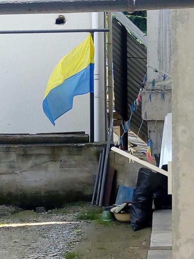 Ukrainskij flag v Alushte
