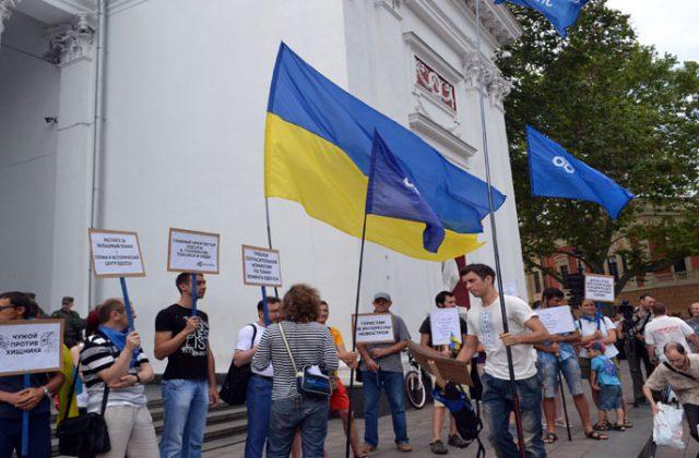 V Odesse trebujut otstavki mjera Truhanova i rospuska gorsoveta (6)