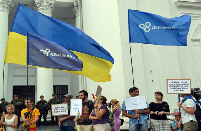 V Odesse trebujut otstavki mjera Truhanova i rospuska gorsoveta (7)