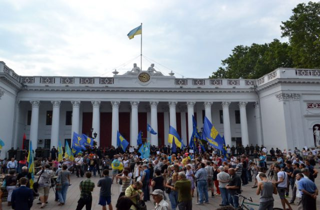 V Odesse trebujut otstavki mjera Truhanova i rospuska gorsoveta (8)