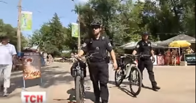 policejskie na velosipedah