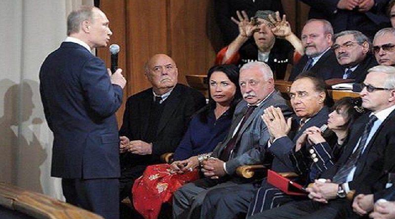 Putin gipnotiziruet artistov
