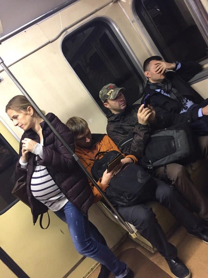beremennaja v metro