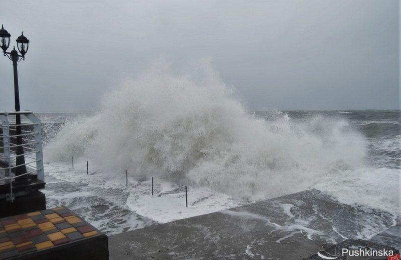 Сильный шторм в Одессе