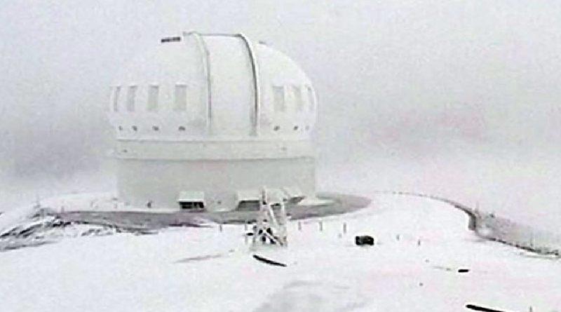 В тропиках на Гавайях выпало рекордное количество снега (ВИДЕО)