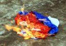 В оккупированном Севастополе пытались сжечь российский флаг