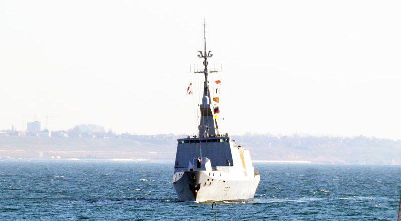 V Odessu zashel francuzskij raketnyj fregat-nevidimka Lafajet (2)