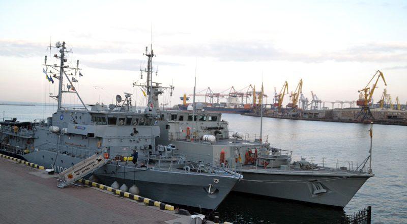 V Odessu zashla boevaja gruppa korablej NATO (1)