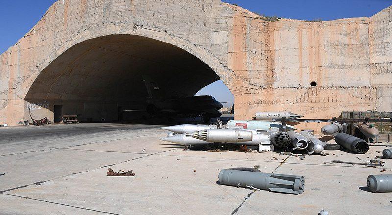 Авиабаза Шайрат в провинции Хомс  после ракетного удара США