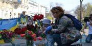 «Svoboda» i «Pravyj sektor» pochtili pamjat' odessitov geroev 2 maja (7)