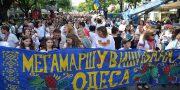 Desjatyj Megamarsh v vyshivankah v Odesse