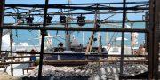 Последствия пожара в ресторане «Пляжник»