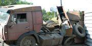 V Odesse vozle avtovokzala perevernulas' fura (3)
