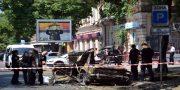 V centre Odessy vzorvalsja avtomobil' VAZ-2101 (12)