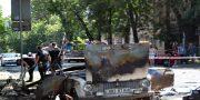 V centre Odessy vzorvalsja avtomobil' VAZ-2101 (3)