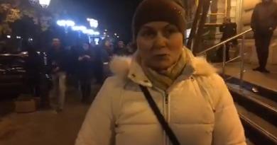После срыва концерта патриоты пообщались с донецкой фанаткой Райкина (ВИДЕО)