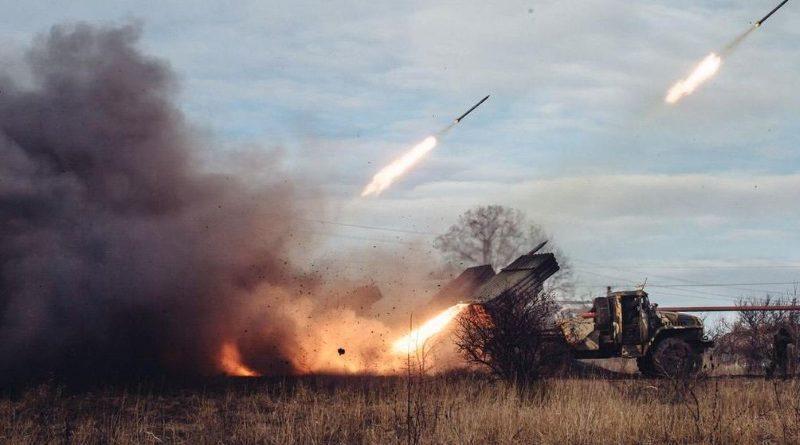 Обстрел градами позиций ВСУ