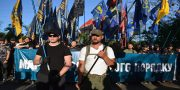 V Odesse patrioty marshem otprazdnovali pobedu nad russkim mirom (1)