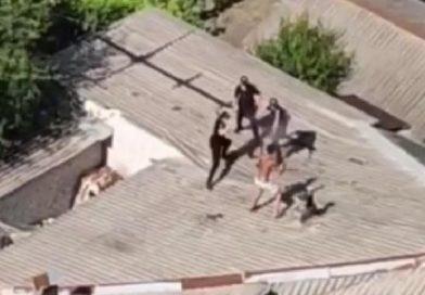 В Харькове мужчина дрался с копами на крыше дома: видео разлетелось по Сети